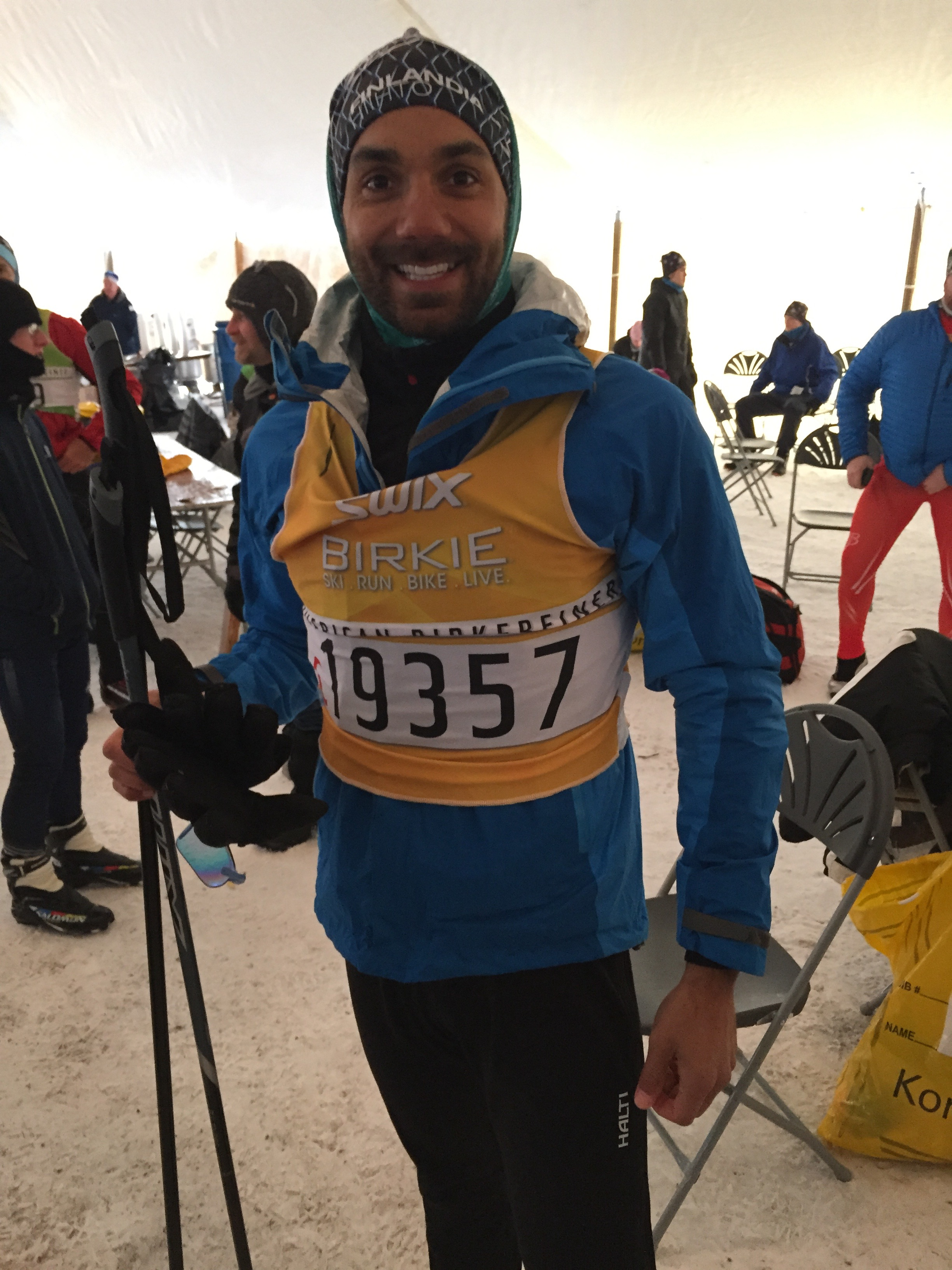 Richard Bray Warming up before the American Birkie