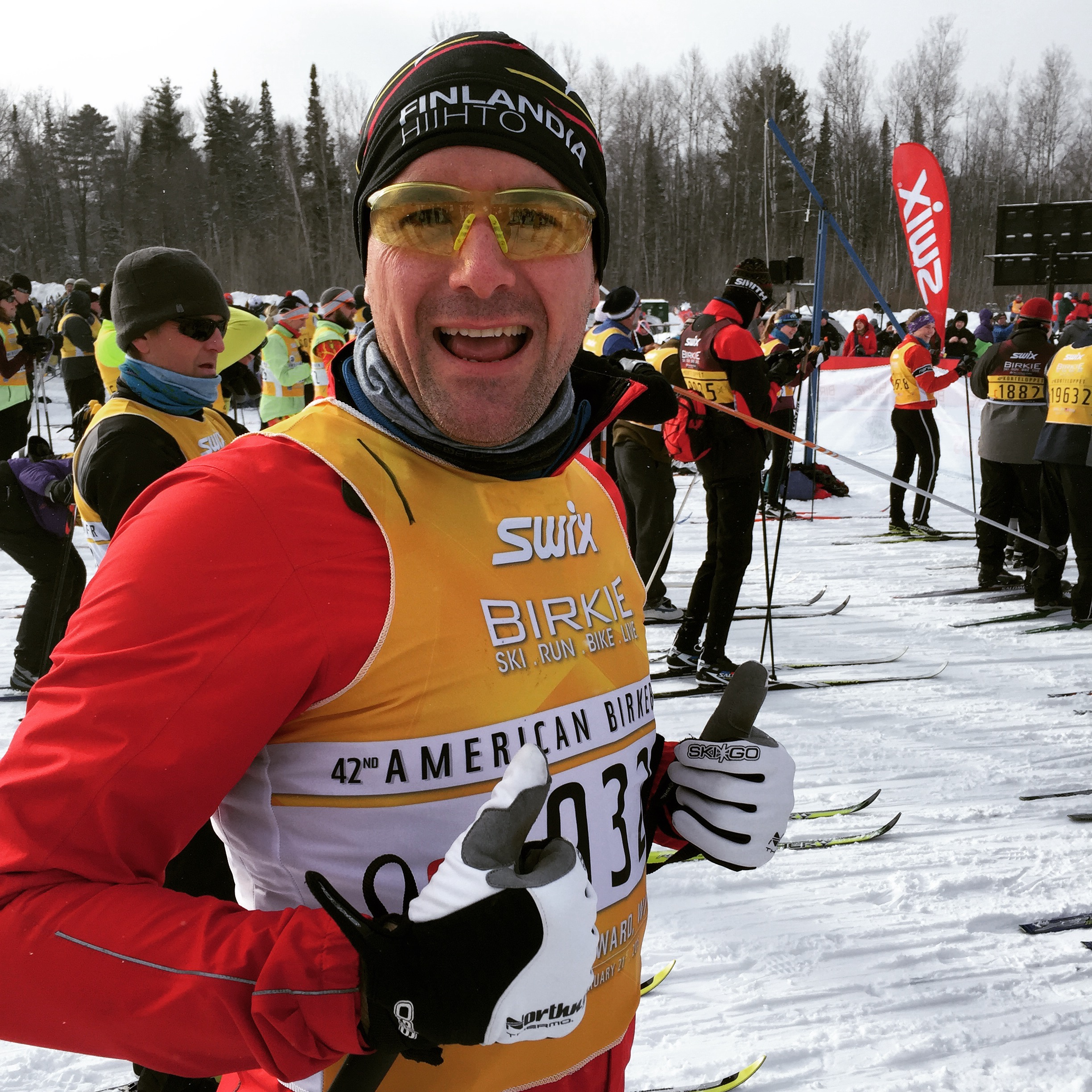 Mark Power on the start line at the American Birkie Race.